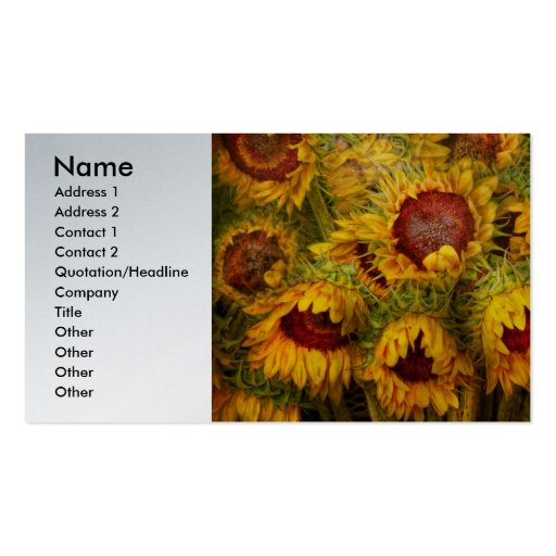 Flowers - Sunflowers - You're my only sunshine Business Card