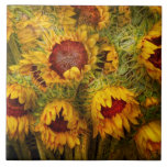 Flowers - Sunflowers - You're my only sunshine Large Square Tile