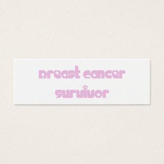 Flowers Survivor Bookmark Mini Business Card