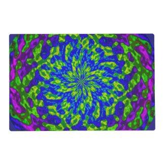 Flowers Swirls Mandala Laminated Placemat