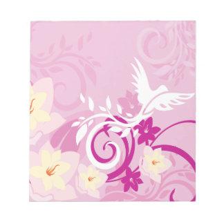 Flowers & Swirls Notepad