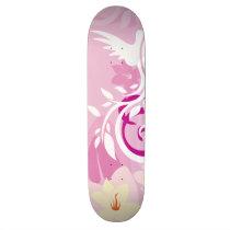 Flowers & Swirls Skateboard Deck