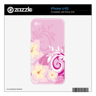 Flowers & Swirls Skins For iPhone 4