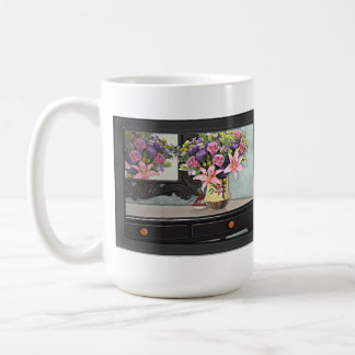 Flowers, Table & Mirror in the Foyer Still Life Coffee Mug