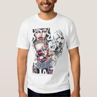 flowers tattoo year clown T-Shirt