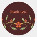 Flowers - Thank You - sticker