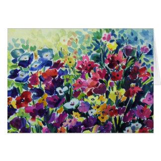 Flowers That Dance  Original Watercolor CARD