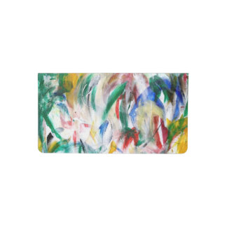 FLOWERS the abstract ~ Checkbook Cover