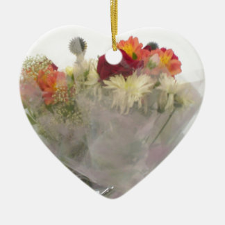 Flowers Theme Hand Bag Accessory Ceramic Ornament