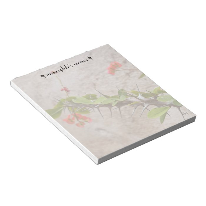 Flowers & Thorns Notepad