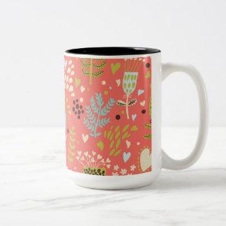 Flowers To Make You Smile Two-Tone Coffee Mug
