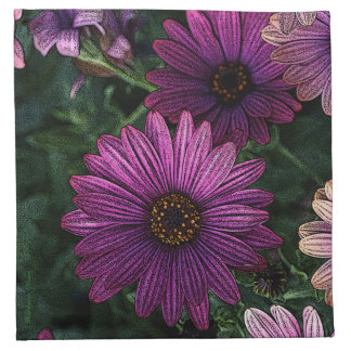 Flowers to meals: Napkins