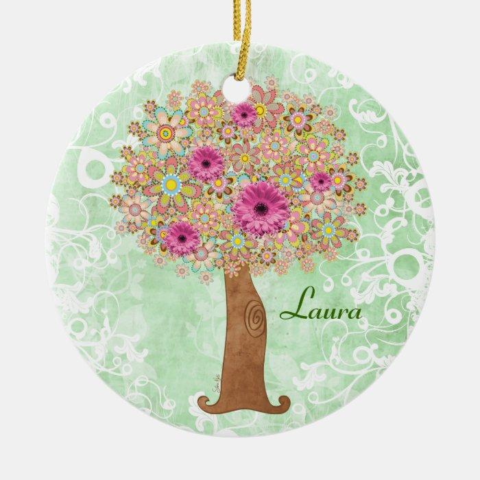 Flowers Tree customizable ornament tba