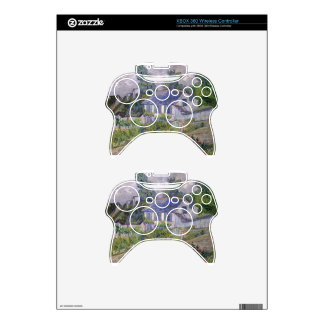 flowers tree gogh blossoms vines plants green xbox 360 controller skin