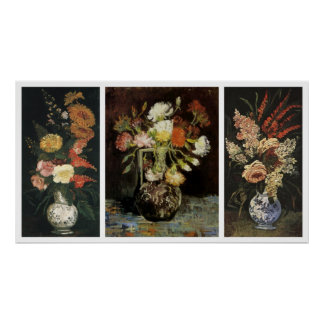 Flowers Trio by Vincent van Gogh Poster