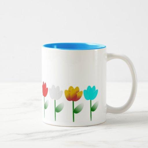 flowers Two-Tone coffee mug