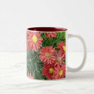 flowers Two-Tone coffee mug