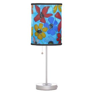Flowers under Glass Lamp