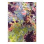 Flowers VanGogh in Purples Stationery Note Card