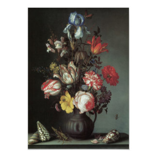 Flowers Vase Shells Insects, Balthasar van der Ast Custom Announcement