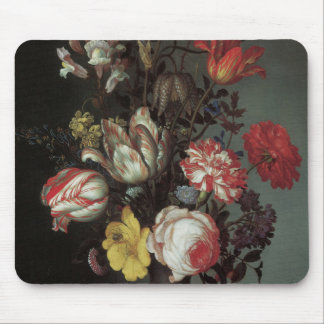 Flowers Vase Shells Insects Balthasar van der Ast Mouse Pads
