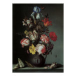 Flowers Vase Shells Insects, Balthasar van der Ast Posters