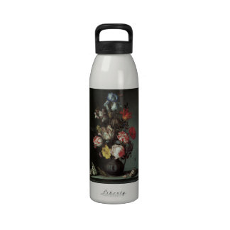 Flowers Vase Shells Insects, Balthasar van der Ast Reusable Water Bottle
