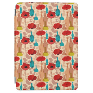 Flowers, vases and bottles pattern iPad air cover