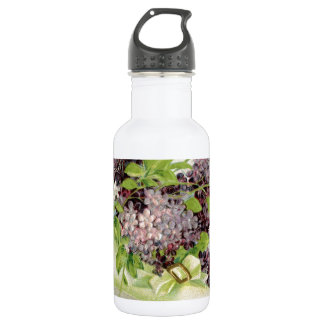 flowers Vintage Birthday party victorian petals Water Bottle