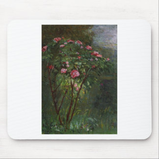 flowers vintage Gustave Caillebotte rose bush pink Mouse Pad