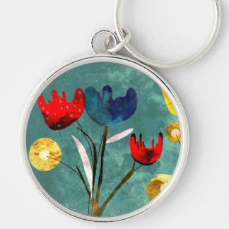 Flowers Vintage Keychain