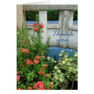flowers water paper thank you card