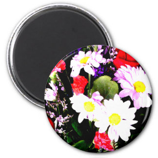Flowers - Watercolor 2 Inch Round Magnet