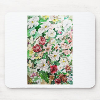 Flowers Watercolour and Pencil Mouse Pad