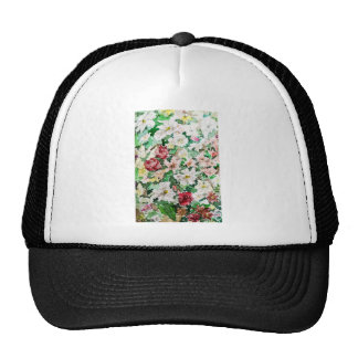 Flowers Watercolour and Pencil Trucker Hat