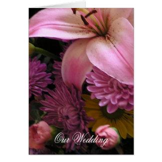 Flowers Wedding Invitation Greeting Card