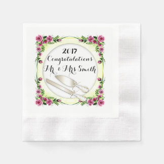FLOWERS WEDDING  NAPKINS Coined Cocktail