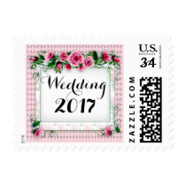 "FLOWERS WEDDING STAMP CUSTOM  Small 1.8"" x 1.3"""