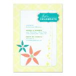 "Flowers & Whimsy invitation 5"" X 7"" Invitation Card"
