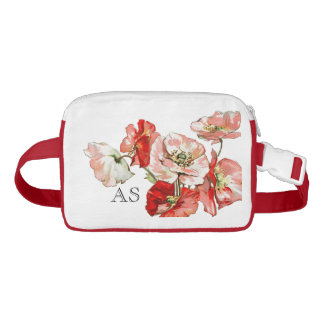 Flowers wild poppy personalize fanny pack
