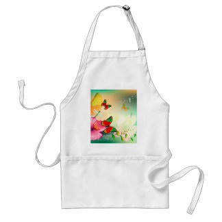 Flowers with butterfly aprons