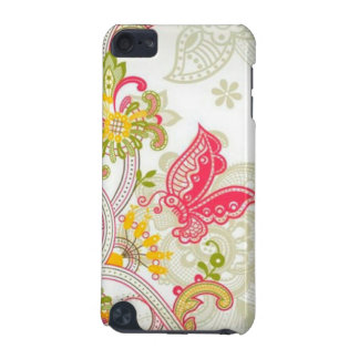 flowers with butterfly iPod touch (5th generation) case