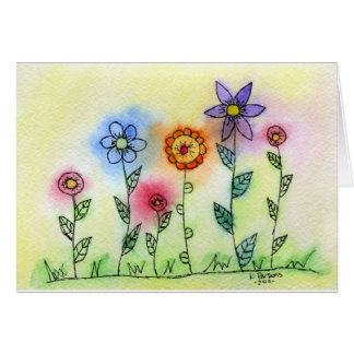 Flowers with Halos Greeting Card