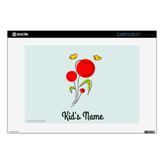 """Flowers with Hearts 13"""" Laptop Skins"""