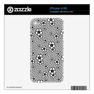 Flowers with hearts and circles skin for the iPhone 4