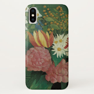 Flowers with Ivy by Henri Rousseau, Vintage Floral iPhone X Case