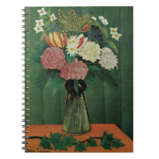 Flowers with Ivy by Henri Rousseau, Vintage Floral Notebook
