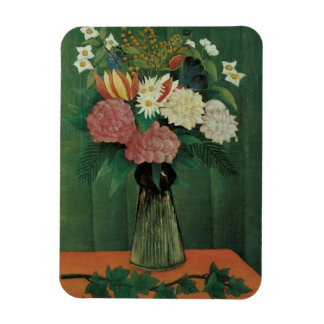 Flowers with Ivy by Henri Rousseau, Vintage Floral Flexible Magnet