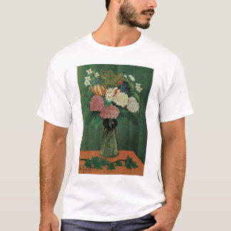 Flowers with Ivy by Henri Rousseau, Vintage Floral T-Shirt