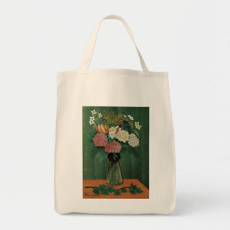 Flowers with Ivy by Henri Rousseau, Vintage Floral Tote Bag